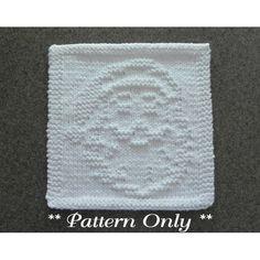 Santa Claus Knit Dishcloth Pattern
