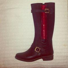 Juicy couture rain boots Juicy couture black and red rain boots size 7 Juicy Couture Shoes Winter & Rain Boots
