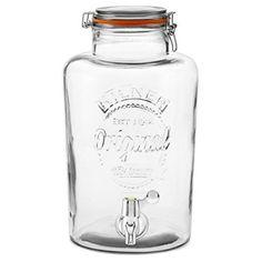 Kilner Getränkespender, aus Glas mit Plastik-Zapfhahn, 8 Liter,Bowle, Maibowle: Amazon.de: Küche & Haushalt