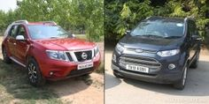 Nissan Terrano vs Ford EcoSport - Psuedo SUV face-off Nissan Terrano, Compare Cars, Car Buying Tips, Driving Tips, Ford Ecosport, Used Cars, Face, The Face, Faces