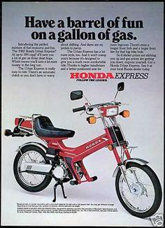 Honda Urban Express Motor Bike (USA, 1982). https://plus.google.com/+JohnPruittMotorCompanyMurrayville/posts