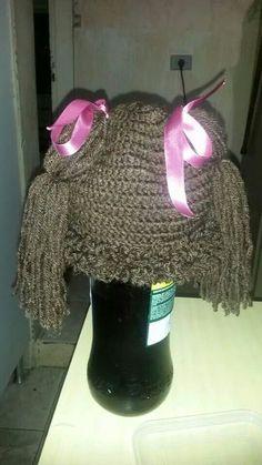 Touca cabelo de boneca - crochê