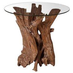 Nantucket Driftwood/Glass Side Table - Arteriors | domino.com