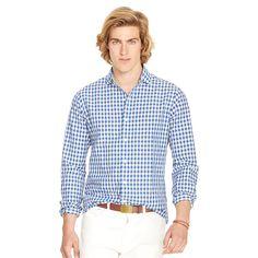 Gingham Cotton-Linen Shirt