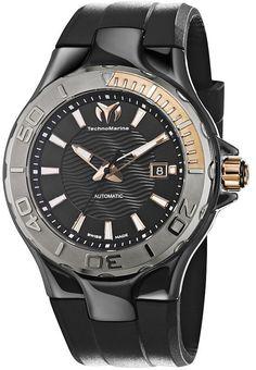 TechnoMarine Mens Analog Ceramic Watch - Black Rubber Strap - Black Dial - 110035  http://www.originalwatchstore.com/brand/technomarine/