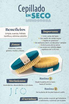 Los beneficios para la piel del cepillado en seco. #belleza #infografia