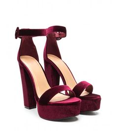 velvet wedding shoes Sandals with platform and thick heel from the velvet bordo- Sandale cu platforma si toc gros din catifea bordo Sandals with platform and thick heel from the velvet bordo - Cute Addidas Shoes, Kate Spade Wedding Shoes, Cute Casual Shoes, Cheap Heels, Prom Shoes, Goth Shoes, Shoes Heels, Burgundy Heels, Special Occasion Shoes