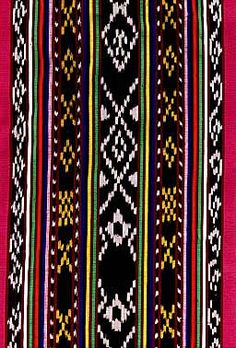 Ikat or ikkat, is a style of weaving that uses a resist dyeing process similar to tie-dye on either the warp or weft before the threads are woven to create a pattern or design. A double ikat is w… Traditional Filipino Tattoo, Filipino Art, Filipino Tribal, Filipino Tattoos, Indian Tattoos, Ethnic Patterns, Textile Patterns, Print Patterns, Blanket Patterns