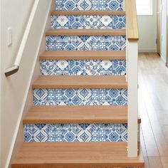 Blue Mosaic Tile Peel and Stick Wallpaper by World Market