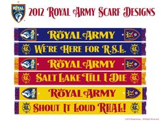 2012 Royal Army scarf designs.  I'm getting the gold one.