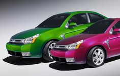 Which color would you choose??  Apple Green or Raspberry or somewhere in between...how about chrome?  http://wispi.com/vehicle-wraps-and-graphics/its-not-always-strictly-business-with-graphic-film-3m-vinyls/