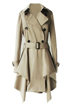 Different take on a trench coat - love it! #fashion