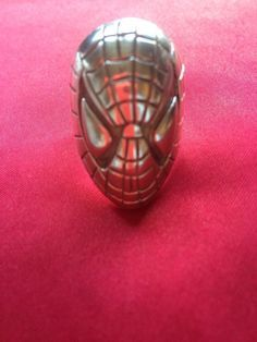 SALE SALE SALE Sterling Silver Hand Crafted Spiderman Ring Size13