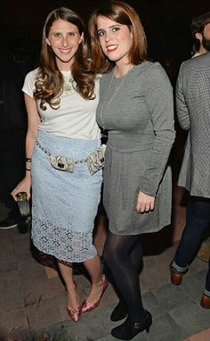 (R) Princess Eugenie posed for photographs with a guest at the event, which helped to raise funds for numerous charitable organizations at the glamourous Bowery Hotel, NYC, 27.03.2014