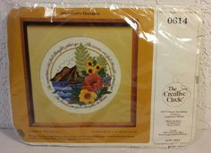 Vintage 1982 The Creative Circle Embroidery Kit Sewing 0614 God's Thoughts #CreativeCircle