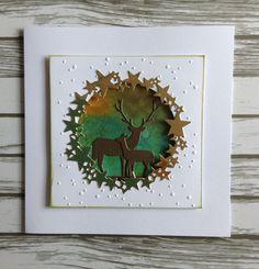 Memory box dies- Starry Wreath 98403, Deer Trio 98166