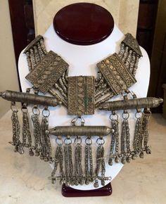 Yemenite Silver Antique Wedding Necklace (Yemen Jewish)