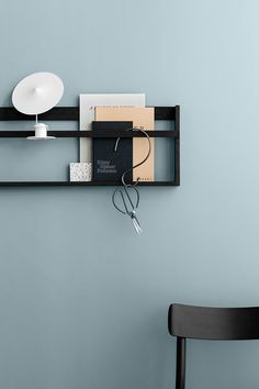 Jotun - Lady Pure Color i farven Dusky Blue 5200 Blue Bedroom Walls, Bedroom Wall Colors, Wall Paint Colors, Living Room Colors, Blue Walls, Blue Bedrooms, Color Inspiration, Interior Inspiration, Bedroom Inspiration