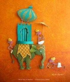 "Kevin Kidney Paper Sculpture ""Dasara"" by Miehana, via Flickr"