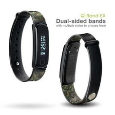 Q-Band Fitness Tracker - Watch, Activity, Steps, Fitness, Calories & Sleep Tracker Wristband - Wireless Bluetooth Synchronization with iPhone & Android Devices - Durable Battery- OLED Display Best Fitness Tracker, Handmade Leather Wallet, Bluetooth, Activities, Watches, Band, Sleep, Top, Confessions