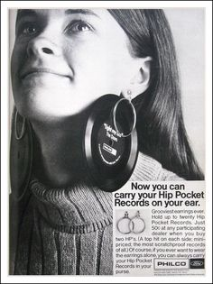 By 1969, the development of the compact cassette and ultimately the Sony Walkman put pay to the pocket-sized flexi-disc and its short-lived dream of a portable vinyl for the world. Description from thevinylfactory.com. I searched for this on bing.com/images