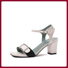 Sommer Damen Mode High Heels/Das Wort Mit Einer Zehe Dick Mit Sandalen-C Fußlänge=22.3CM(8.8Inch) - Sandalen für frauen (*Partner-Link)