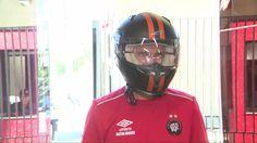 "Visual novo: Milton Mendes aparece de capacete para esconder ""careca"" #globoesporte"