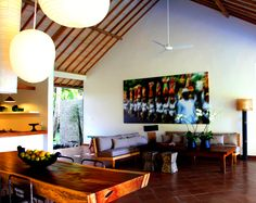 Ubud Villa Jo designed and built by Warren and Robbin Great Room