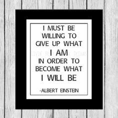 Albert Einstein Quote Inspirational Art by LivinFreelyDigital, $4.99