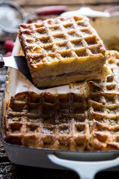 Monte Cristo Waffle Casserole
