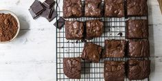 Vegan chocolate and prune brownies recipe - Great British Chefs Vegan Recipes Videos, Vegan Lunch Recipes, Vegan Desserts, Raw Food Recipes, Sweet Recipes, Cooking Recipes, Vegan Sweets, Vegan Chocolate Brownies, Vegan Brownie