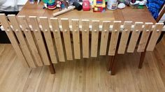 Giant Xylophone Made From Bed Slats Bed Slats Upcycle, Ikea Bed Slats, Old Beds, Recyle, Wood Slats, Decoration, Garden Furniture, Wood Projects, Fun Crafts