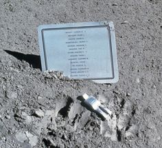 """""""Fallen Astronaut"""" is a 3 inch tall aluminum sculpture of a human figure was left on the moon in 1971 by Apollo 15 astronauts. Created by Belgian artist Paul Van Hoeydonck, the sculpture is a memorial for astronauts and cosmonauts who have died in the pursuit of space exploration."""