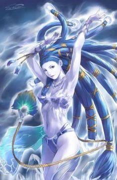 """Final Fantasy GF """"Shiva"""" fan art"""