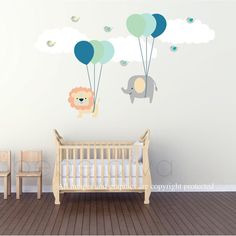 Wall Decals Nursery Wall Decal Nursery Balloon by BebeDivaBoutique