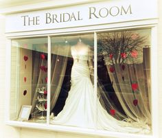 Valentines window #2  Www.TheBridalRoomAtherstone.co.uk