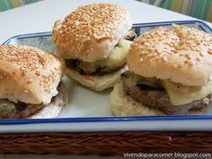 Mini-hambúrguer caseiro