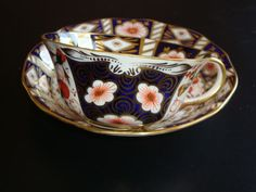 Vintage Aynsley IMARI Scalloped Tea Cup and Saucer ~ Pattern # 5500 from janshelley on Ruby Lane