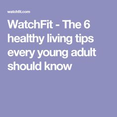 adults young Healthy living