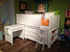 New from Lea Industries Youth Furniture at Highpoint, NC Fall Mkt. 2012 #Lea_Industries #furniture #captains_bed #desk