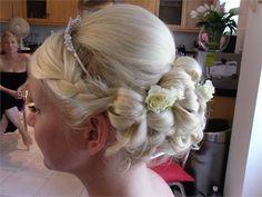 vintage low hairstyle from Nicolajane Bridal Hair & Make up