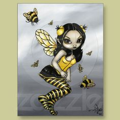 """Bumblebee Fairy"" Postcard from Zazzle.com"