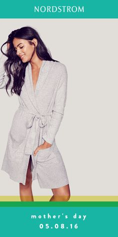 Treat mom to cozy this Mother's Day. Her loungewear collection isn't complete without a supersoft robe. Perfect gift idea for breakfast in bed!