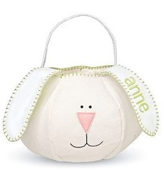 A little bunny basket. I am not into sewing right now but I am sure this can be done in yarn too!