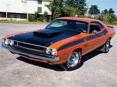 '70 Challenger... @Ellie Rodgers needs this as a nice change of pace every now and then... Switch up the red with some vintage orange?