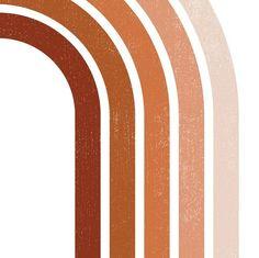 DIGITAL, Boho Wall Art, Gallery Wall Set of 5, Burnt Orange, Boho Decor, Rainbow Print, Printable Wa