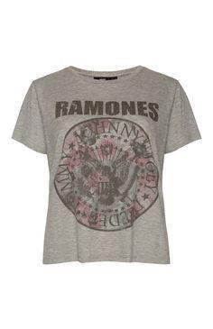 """Primark - Graues """"Ramones"""" T-Shirt"""