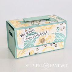 Scrapbook Box, Vintage Scrapbook, Box Packaging Templates, Box Templates, Diy Gift Box, Wood Crates, Gift Packaging, Packaging Design, Stamping Up