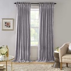 2PCS Blackout Crushed Curtains Eyelet Ring Top Ready Made Lined Curtains Grey UK