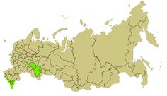 Subjects of the Russian Federation with a Muslim majority.